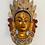 Thumbnail: Handmade Multicolor Brass Tara Wall Hanging, Metal Tara Mask, Goddess of Compass