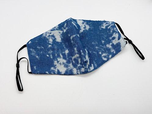 Denim Tie dye Adjustable Face Masks