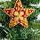 Thumbnail: Handmade Christmas Ornaments, HandembroideryChristmas Tree Decor, Star Ornaments