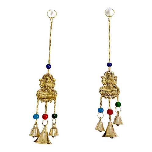 Brass Laxmi Hanging With Bells