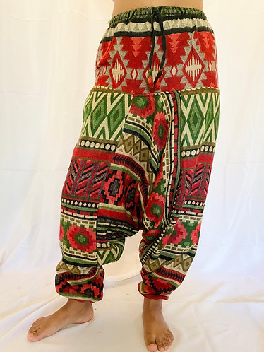 Handmade Multiprint Wool Harem Pants