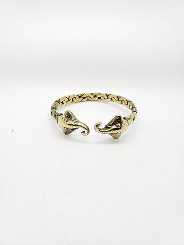 Handmade Elephant Metal Cuff  Bracelet