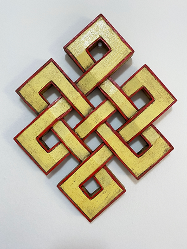 Handmade Buddhism Infinity Symbol Hanging, Endless Knot Wall  Hanging, Wooden In
