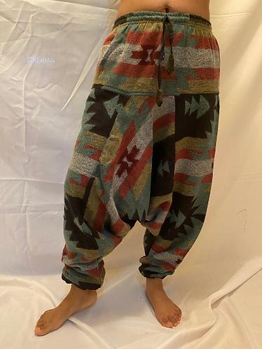 Handmade Multiprint Wool Pant, Wool Harem Pants from Nepal