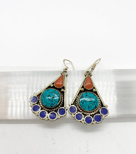 Tibetan Tribal Fusion Handmade Earring