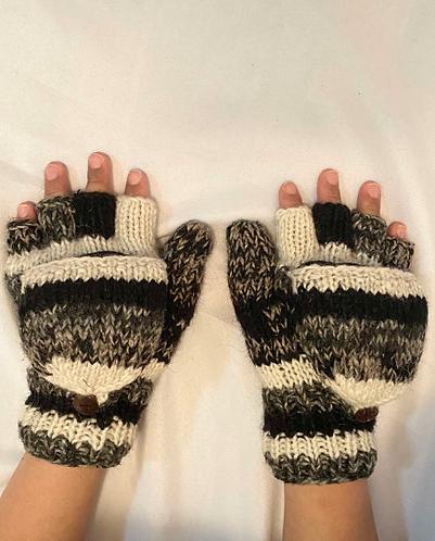 100% Wool HandKnit Himalaya Sherpa Gloves