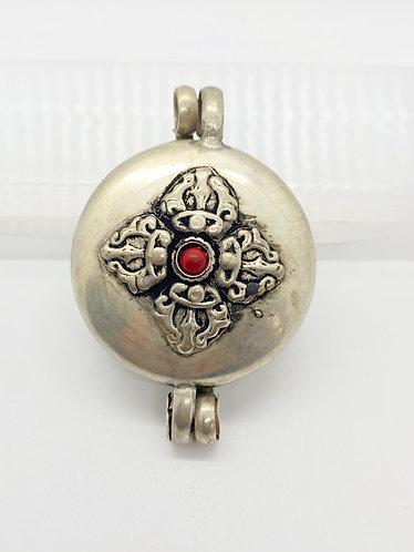 Tibetan Box Style Handmade Pendant with Vajra/Eye of Buddha