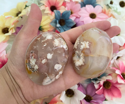 Flower Agate/Cherry Blossom Agate Palmstone