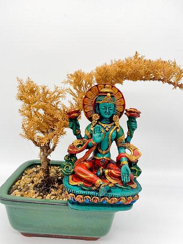 Handmade Lakshmi/Laxmi, Goddess of Wealth , Abundance, Fertility and Prosperity