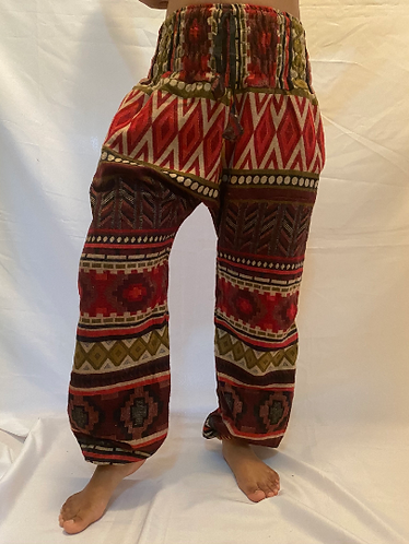 Handmade Multiprint Wool Pant from Nepal, Wool Pant