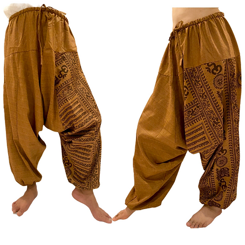 Harem Cotton Pants with Tribal Design , Om Print Pant