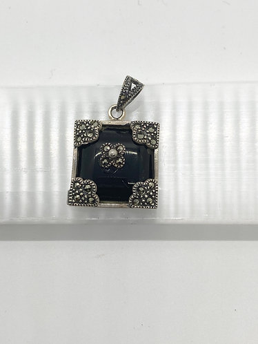 Handmade Silver Onyx Pendant