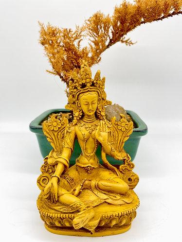 Handmade Green Tara, Goddess of Compassion, Female Buddha Statue
