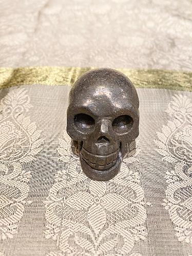 Handmade Crystal Skull, Pyrite Skull, Fluorite Skull, Skull, Handcrafted Crystal