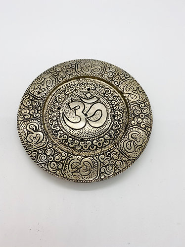 Round Om Incense Burner from Nepal