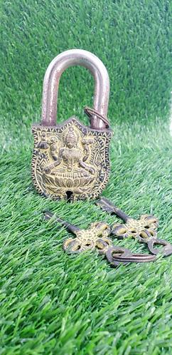 Handmade Laxmi Door Lock from Nepal, Vintage Door Lock, Metal Padlock, Home Deco