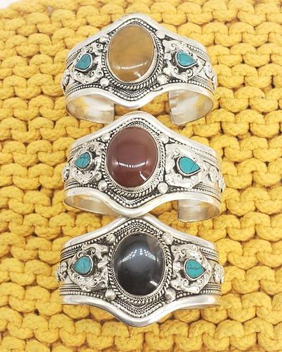 Asian Tibetan Bangle Cuff , Tribal Ethnic Cuff Bracelet, Filigree Design