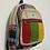 Thumbnail: Handmade Rasta Mini Hemp Back Pack, Multi Color Hemp Back Pack from Nepal, Durab