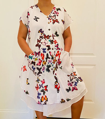 Cotton Butterfly Dress with Sleeve