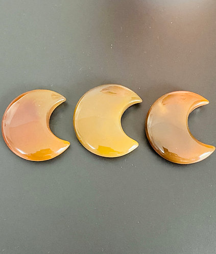 Agate  Moon/ Crystal Crescent Moon