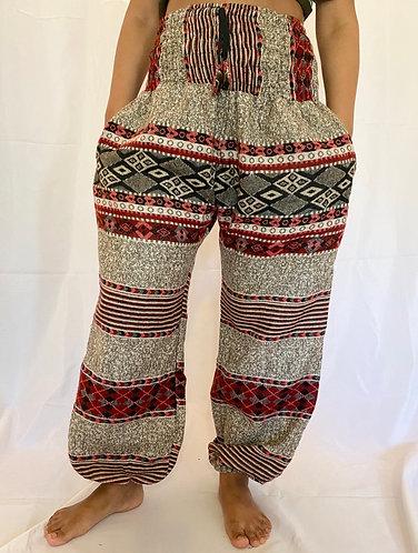 Handmade Multiprint Wool Pant