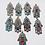 Thumbnail: Handmade Tibetan Silver Hamsa Pendant, Blessing Hand Pendant,Turquoise,Coral and