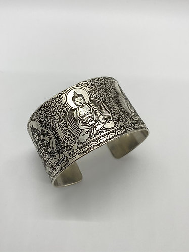 Filigree   Design Handcarved Buddha Bracelet