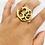 Thumbnail: Brass Handmade Om Ring from Nepal, Ohm Ring, Vintage Brass Ring, Meditation Ring