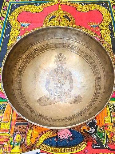 "20"" Diameter  Seven Chakra Handmade Singing Bowl from Nepal"