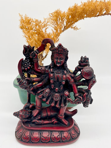 Handmade Kali Statue Stepping on Shivas Chest, Hindu Goddess Statue