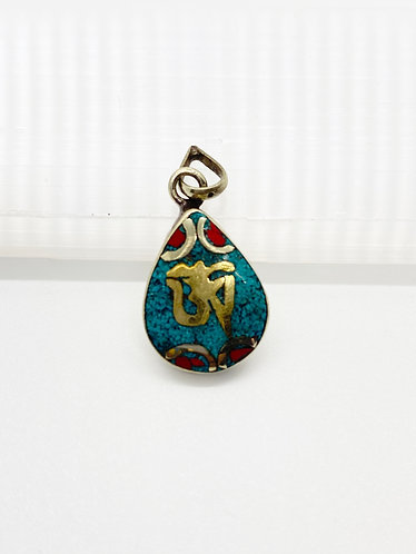 Handmade Tear drop Design with Tibetan OM Pendant