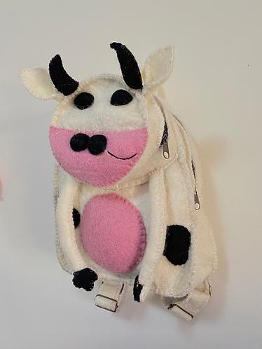 Handmade Felt Animal Back Pack from Nepal, Kids Back Pack, Cow,Panda Back pack,