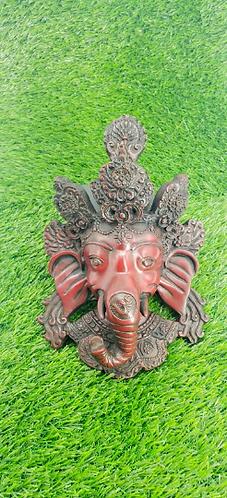 "8"" Ganesh Wall Hanging, Ganesha Mask, Ganesh Wall Decor, Handmade Ganesh Mask fr"