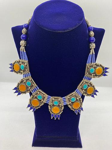 Authentic Handmade Tibetan Tribal Fusion Necklace