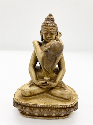 Handmade SamantaBhadra Statue from Nepal, Buddha Statue, Enlightenment buddha, R