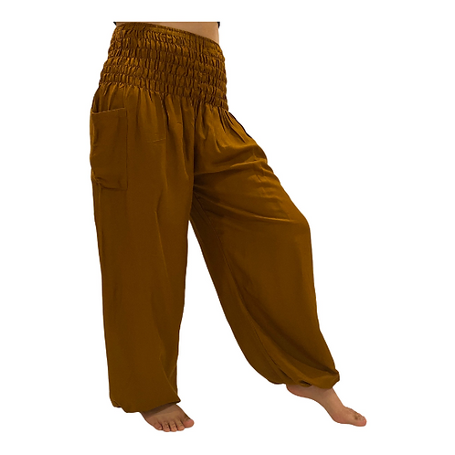 Women's High Waisted Solid Color Harem Pants