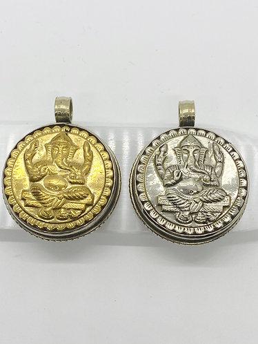 Handmade Ethnic Round Ganesh  Pendant