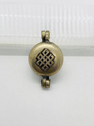 Handmade Tibetan Box Style Endless Knot Pendant