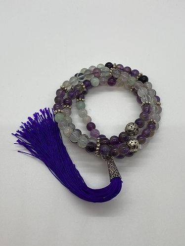 Fluorite Mala Beads