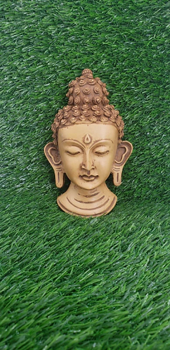 "6"" Handmade Buddha Mask from Nepal, Buddha Wall Hanging, Home Decor, Wall Decor,"
