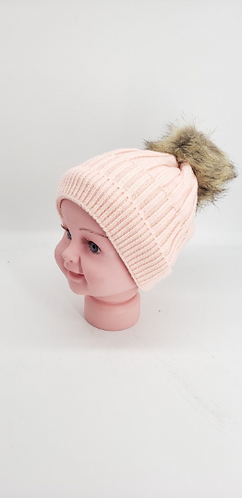 Handmade Unisex Fleece Lined Baby Hats with Pompom, Kids, Bay, Toddler Beanie Ha