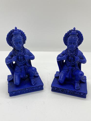 Blue Hanuman Statue from Nepal, Monkey God, God of Honesty Loyalty, Resin Hanuma