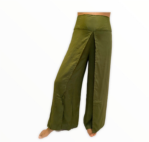 Open Leg Solid Color Boho Pants