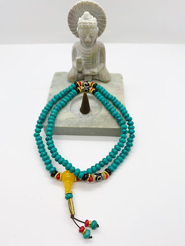 Handmade Turquoise Prayer Beads