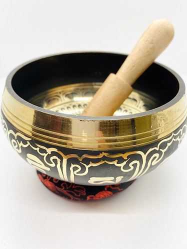 "5.5"" Mantra Craved Handmade Singing Bowl from Nepal"