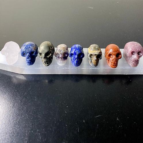 """1.5"""" Handmade Crystal Skull, Crystal Skull, Cleansing Crystal Skull, Amethyst Sk"""