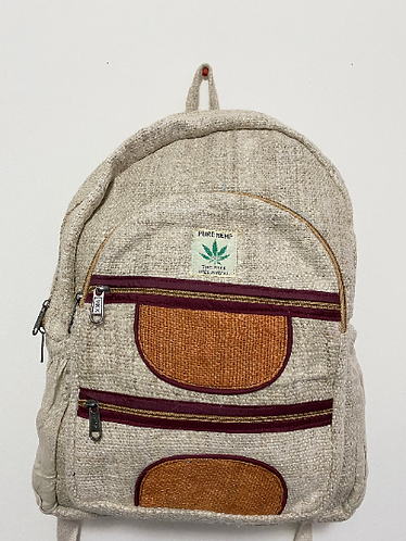 Handmade  Hemp Back Pack, Multi Color Hemp Back Pack from Nepal, Durable Multi c