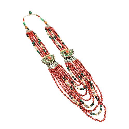 Multi Strand Vintage Coral Necklace