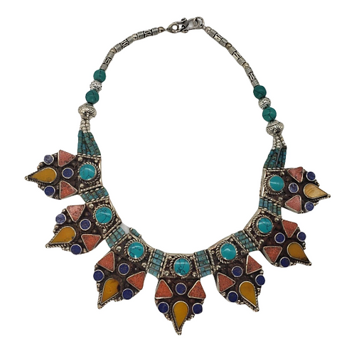 Tribal Handmade Multi-stone Necklace