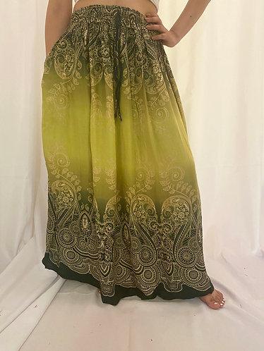 Green Rayon Skirt